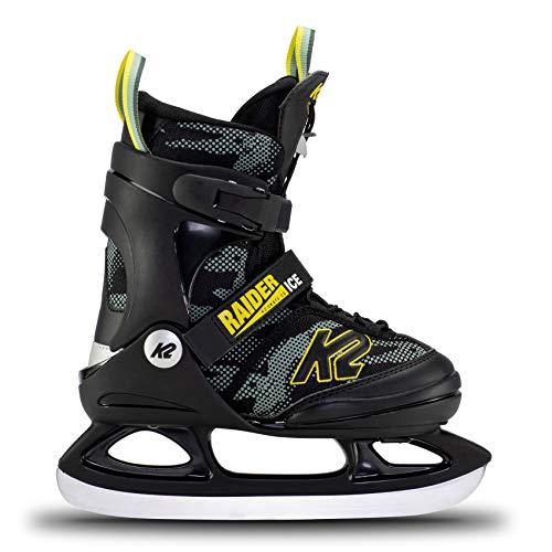 K2 Skates Jungen Schlittschuhe Raider Ice — Green – Yellow — EU: 35 – 40 (UK: 3 – 7 / US: 4 – 8) — 25E0010